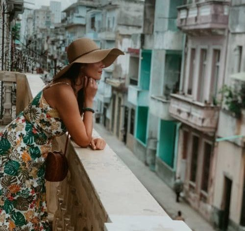 me overlooking the balcony at La Guarida one of the places to eat when you have 2-nights in havana