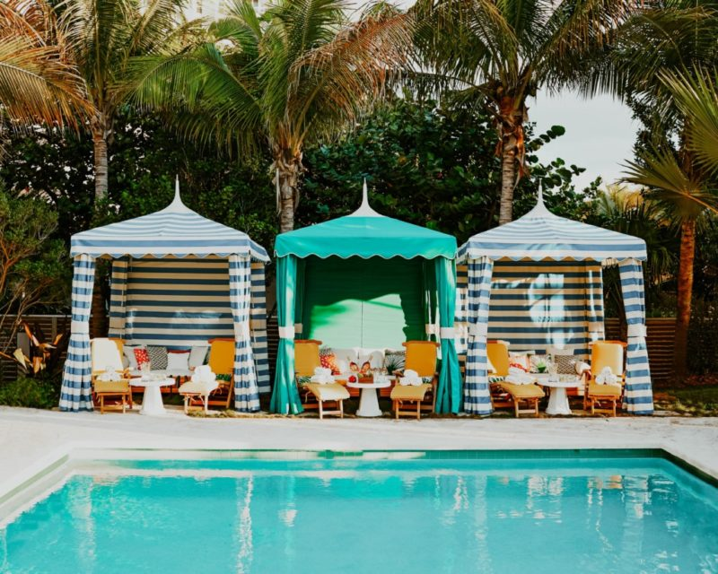 picture of the cabana by the pool at Confidante one of the top hotels in South Beach