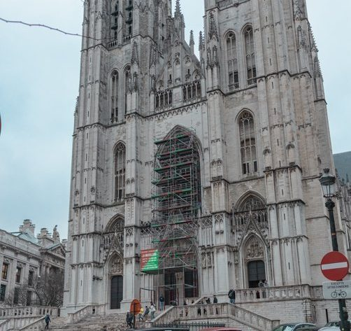 Picture of the THE CATHEDRAL OF ST. MICHAEL AND ST. GUDULA one of the places to see when spending a short layover in Brussels.