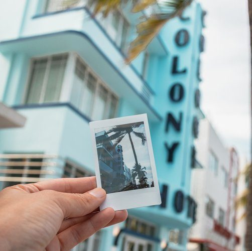 Picture of a picture at the Colony Hotel on Ocean. One of the top things to do in Miami Beach is to see Ocean Drive.