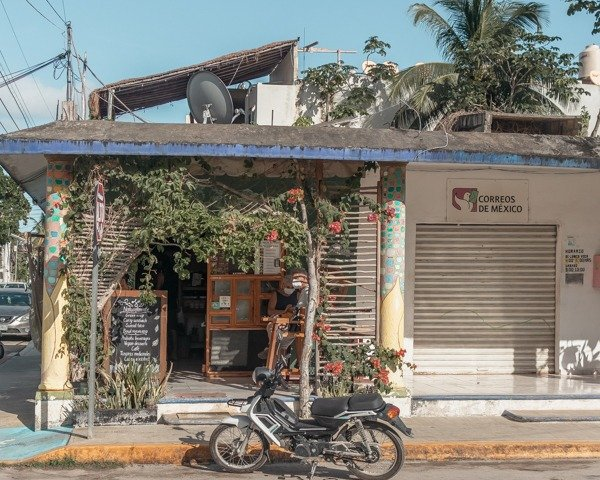 Adorable cafe in Tulum town