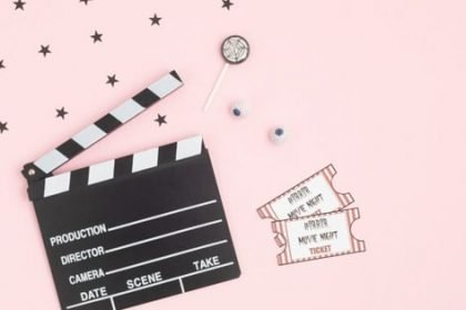 Travel movies picture of movie tickets and board