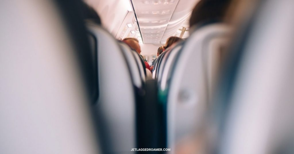 Full plane packed with passengers