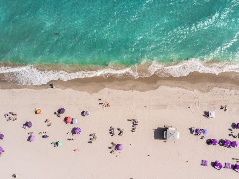 Aerial view of one of the nude beaches in Florida.