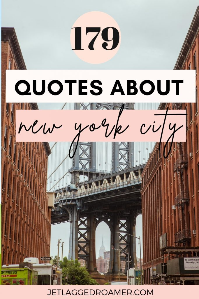 Dumbo New York text reads 179 quotes about New York City