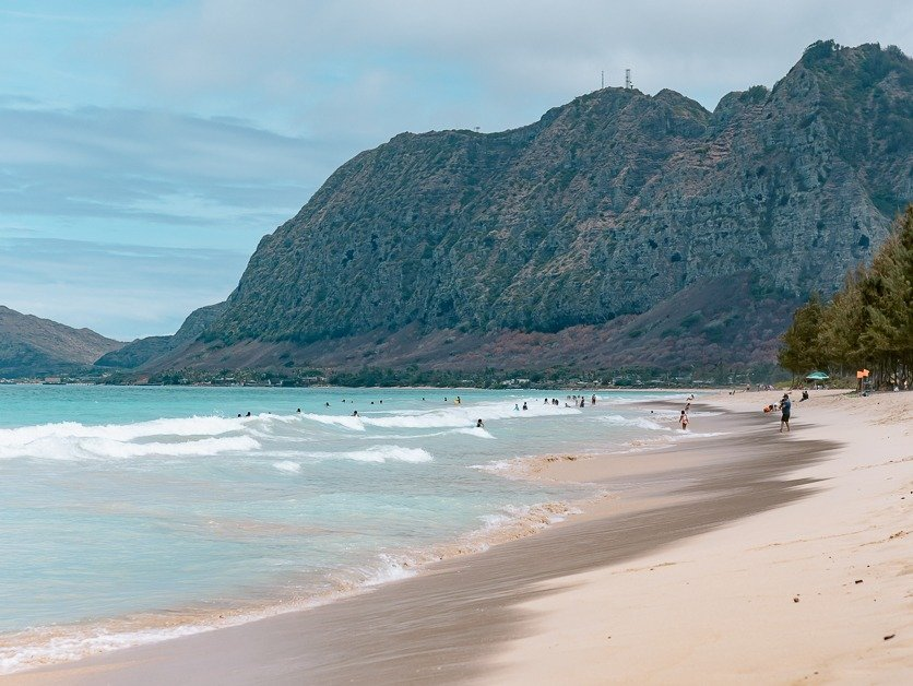 Sherwood beach on a sunny day. One of the best things to do in Oahu.