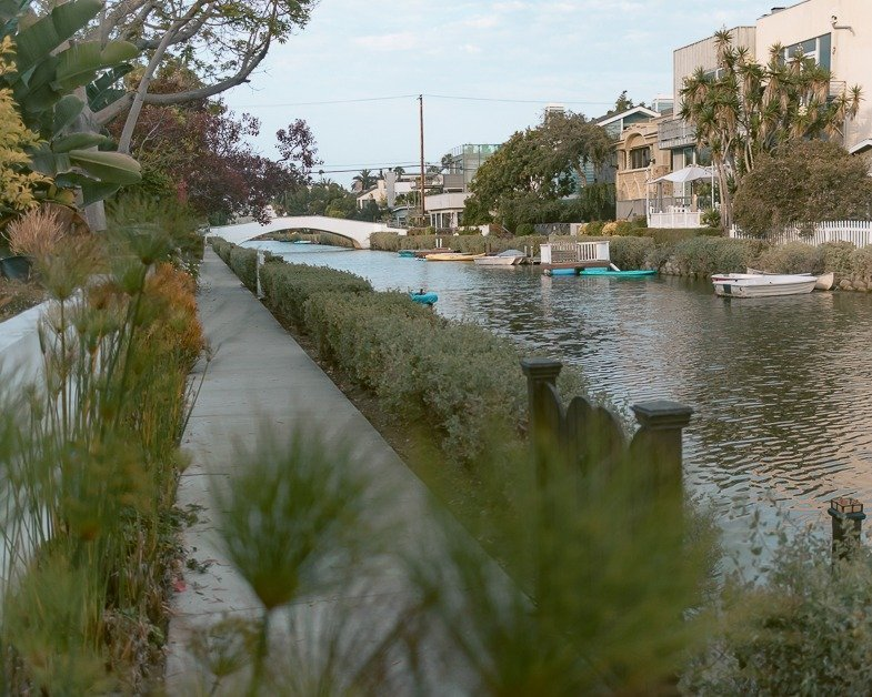 One of the must-see places during a layover in Los Angeles the Venice Canals.