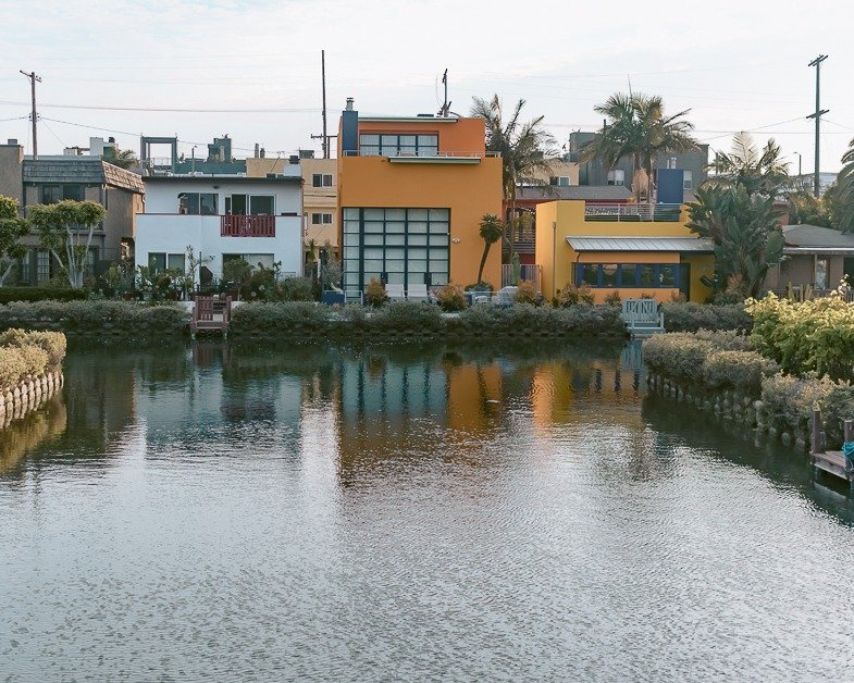 Yellow home in the Venice Canals.